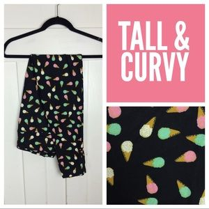 NIP LuLaRoe Leggings, Ice Cream Cones, TC